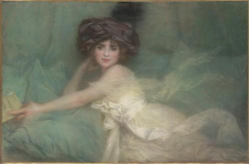 Lucien Levy-Dhurmer, Portrait de Mlle Carlier de Levy-Dhurmer1.jpg