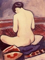 August Macke - Nu assis a l'oreiller (1911).jpg