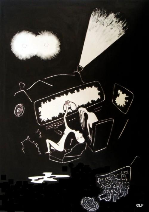 dessin,encre de chine,réalisme,traumatisme