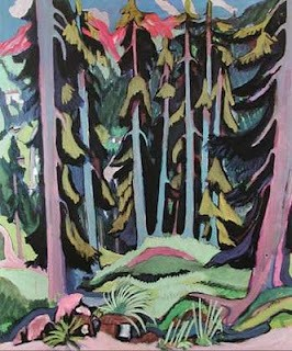 Ernst Ludwig Kirchner - Chemin dans une foret de montagne (1919).jpg